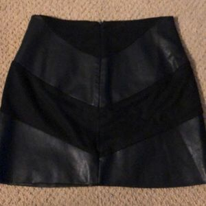 Forever 21 Skirts - Forever 21 faux leather and suede miniskirt sz s